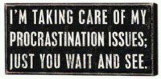 Hypnosis ends procrastination