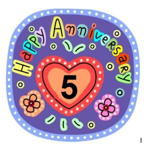 "Happy 5th Anniversary to ""The Hypnotizer"" Blog."